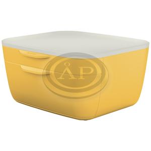 COSY fiókos irattároló, 2 fiókkal, meleg sárga