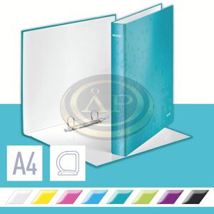 WOW lakkfényű gyűrűskönyv, 2 gyűrű, jégkék 42410051