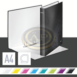 Leitz WOW karton gyűrűskönyv, 2 gyűrű, fekete 42410095