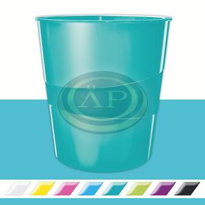 Leitz WOW metálfényű papírkosár, jégkék 52781051