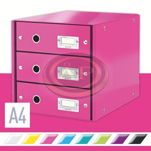 CLICK&STORE 3-fiókos irattároló, rózsaszín 60480023