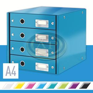 CLICK&STORE 4-fiókos irattároló, kék 60490036