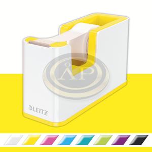 Leitz WOW ragasztószalag-adagoló, ragasztószalaggal, fehér-sárga 53641016