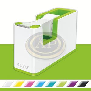 Leitz WOW ragasztószalag-adagoló, ragasztószalaggal, fehér-zöld (53641064 helyettesítője) 53641054