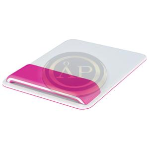Leitz WOW Ergo egéralátét csuklótámasszal, rózsaszín