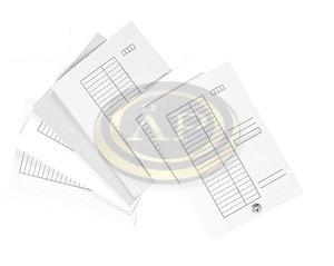 Pólyás dosszié (iratgyűjtő) A/4, fehér karton