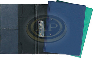Villámzáras mappa PVC A4 kék