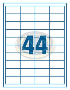 Etikett 48,5x25,4mm 44 címke/lap 100 ív/doboz