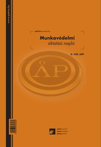 Munkavédelmi oktatási napló A/4 álló, 24 lapos, B.ALL.349