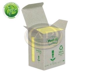 Öntapadós jegyzettömb minitorony 51x38 sárga Green Line 3M Post-it 6db/csomag