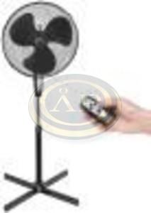 Bestron álló ventilátor távirányítóval 45cm 45W fehér
