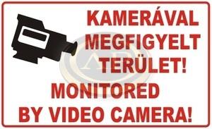 Információs matrica 100x200mm Kamerával megfigyelt terület