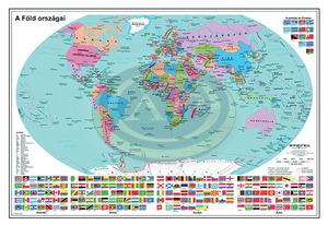 Térkép Föld országai 100x70