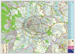 Térkép Budapest 140x100