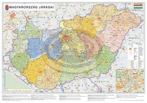 Térkép Magyaro.Járásai 100x140