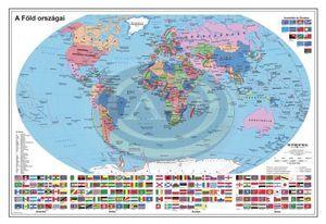 Térkép Föld Országai 136x93