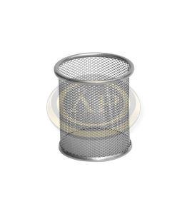 Fémhálós tolltartó pohár ezüst