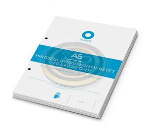 Gyűrűskönyv betét ICO Boxer A5 kockás 50 lapos, 2 lyukú