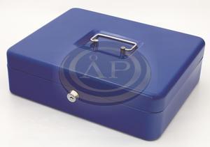 Pénzkazetta 200x160x90mm kék