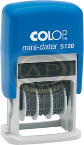 Dátumbélyegző COLOP S 120 mini önfestékező