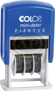 Dátumbélyegző COLOP S 160/L FIZETVE+dátum