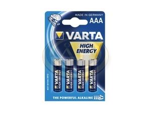 Elem mikro AAA Varta High Energy LR03 4db/bl