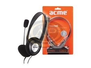 Fejhallgató, mikrofon, hangerőszabályzóval, GENIUS HS-400A, fekete