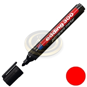 Filctoll 300 kerek alkoholos 1,5-3mm piros Edding