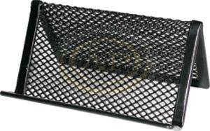 Névjegytartó fémhálós asztali fekete
