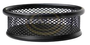 Gemkapocstartó fémhálós kerek fekete