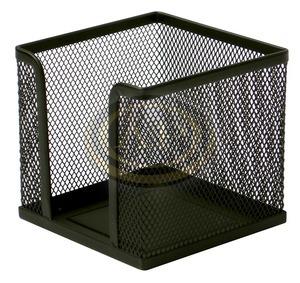 Kockatömb tartó fémhálós fekete, 10x10x8cm