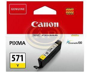 Tintapatron Canon CLI571Y sárga