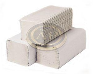 Kéztörlő V hajtogatott, natúr, 1 rétegű, 250 lapos, 23x25cm, 100% újrahasznosított, 20 csomag/karton