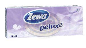 Papírzsebkendő ZEWA Delux 10x10db 3rétegű