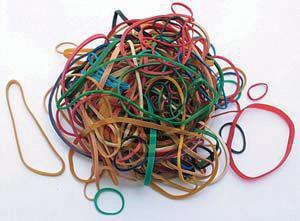 Gumigyűrű színes 10g