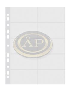 Névjegytartó betét -6-391- 80mic A4 20 férőhelyes P+P
