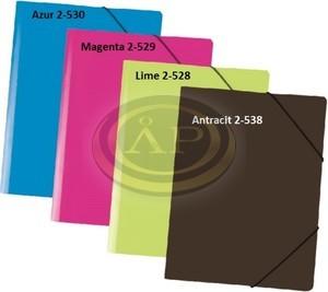 P+P gumis mappa A/4 antracitfekete műanyag 2-538
