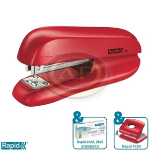 Tűzőgép Rapid F6 piros max. 20 laphoz 5000270
