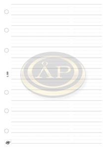 Betétlap -L320/F- gyűrűs kalendáriumhoz -telefon bianco- SATURNUS