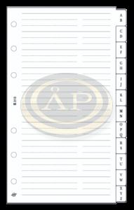 Betétlap -S315/F- gyűrűs kalendáriumhoz telefon regiszt FEHÉR SATURNUS