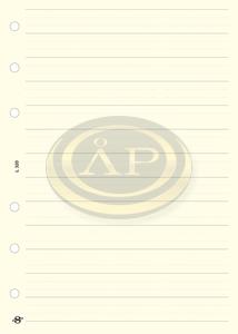 Betétlap -L320- gyűrűs kalendáriumhoz -telefon bianco lap- SATURNUS