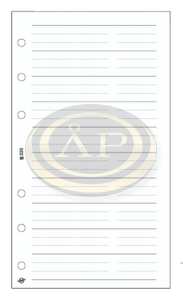 Betétlap -S320/F-gyűrűs kalendáriumhoz telefon bianco FEHÉR SATURNUS
