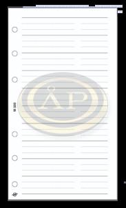 Betétlap -M320/F-gyűrűs kalendáriumhoz telefon bianco FEHÉR SATURNUS