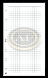 Betétlap -S327/F-gyűrűs kalendáriumhoz KOCKÁS FEHÉR SATURNUS