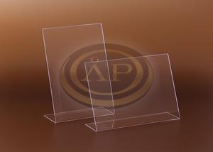 Plexi képtartó és laptartó A/5 fekvő