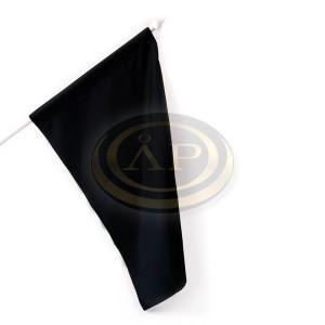 Zászló gyász fekete 60x90cm