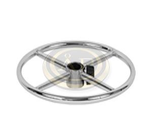 Krómozott acél lábtartó gyűrű, krómozott magasítóval, +17 cm