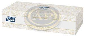 Kozmetikai törlőkendő Tork , 2 rétegű, F1 rendszer, 100db/dob, 140280