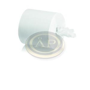Kéztörlő belső tekercselésű, 19 cm, 2 rétegű, 100% fehér, duda nélkül, 130 méter, M2 rendszerhez /belsőmagadagolású/