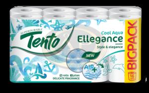 Tento Ellegance Cool Aqua toalettpapír (wc papír), 3 rétegű, 150 lapos, 16 tekercs/csomag